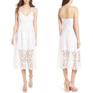 ASTR the Label Lace Midi Dress Sz L White